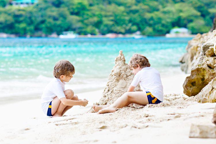 Seychellen strand kinderen