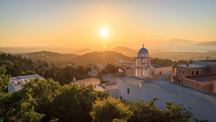 Uitzicht vanaf Asfendiou op Kos