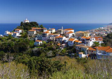 Paleo Karlovasi dorp op Samos