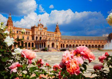Sevilla Plaza de Espana in Andalusie