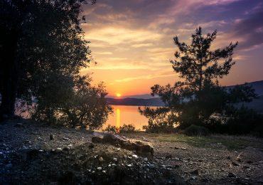 Zonsondergang in Thassos