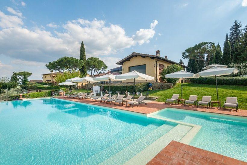 Borgo Divino zwembad – Toscane – Italie